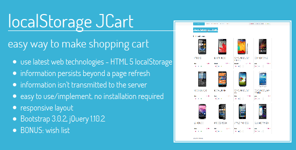 localStorage JCart - CodeCanyon Item for Sale