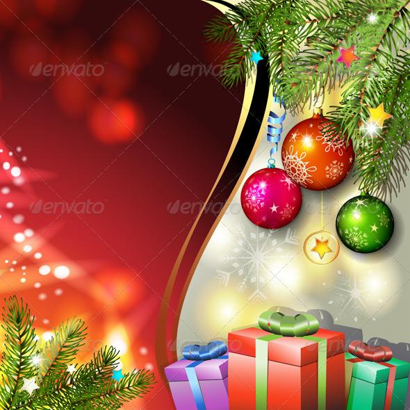 Christmas Gifts and Balls - Christmas Seasons/Holidays