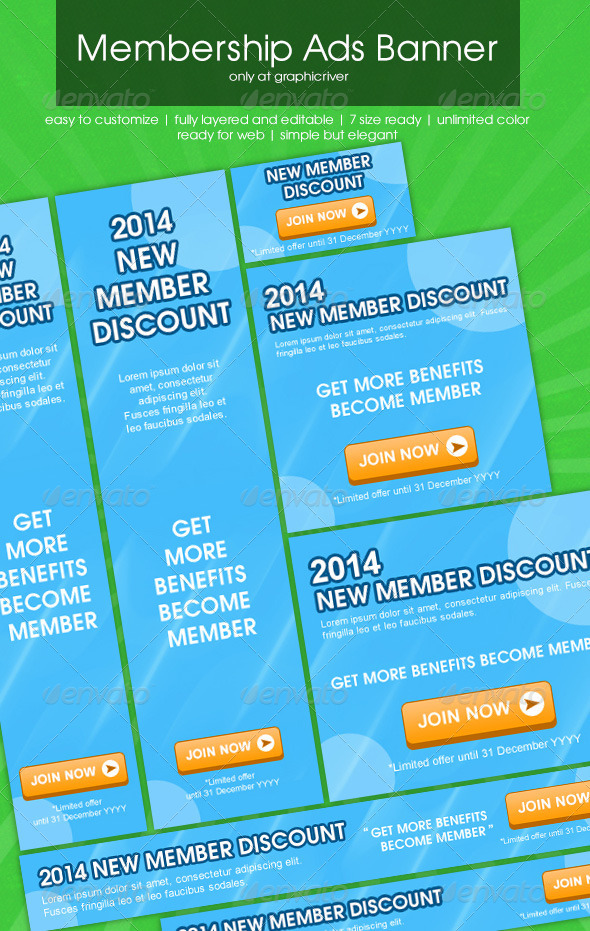 Membership Ads Banner - Banners & Ads Web Elements