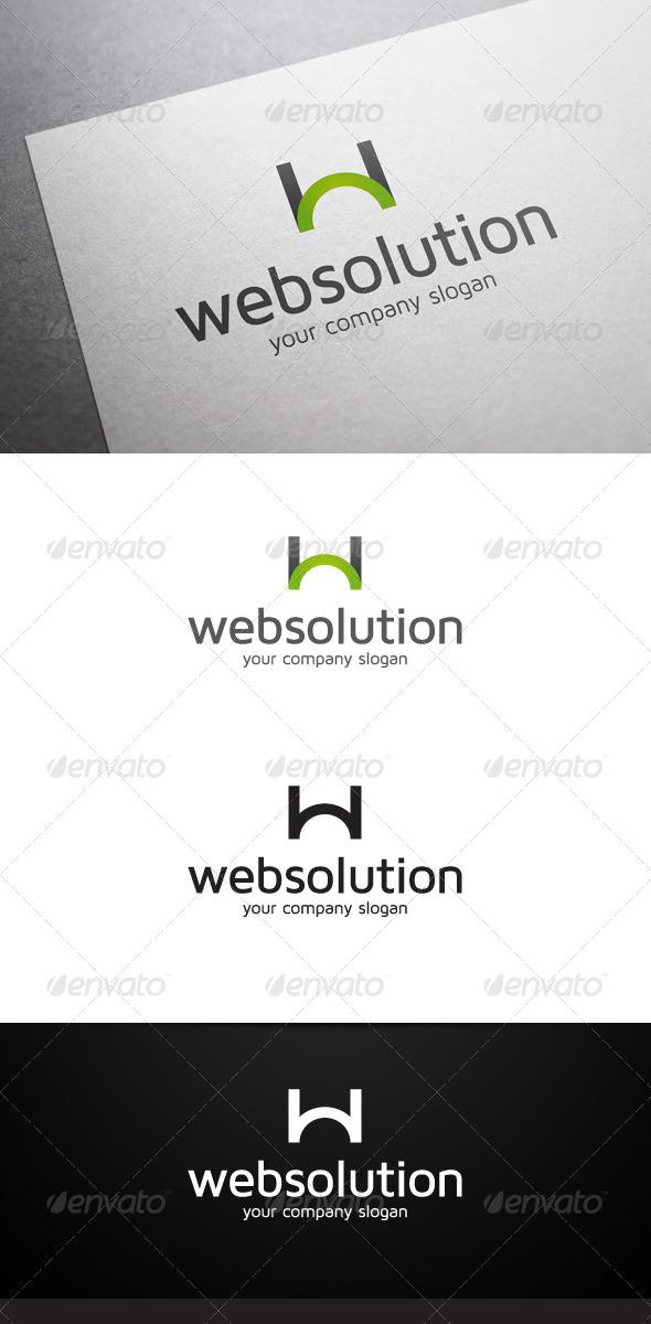 Web Solution W Letter Logo - Letters Logo Templates