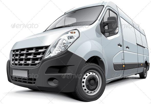 French Medium-Size Van - Vectors