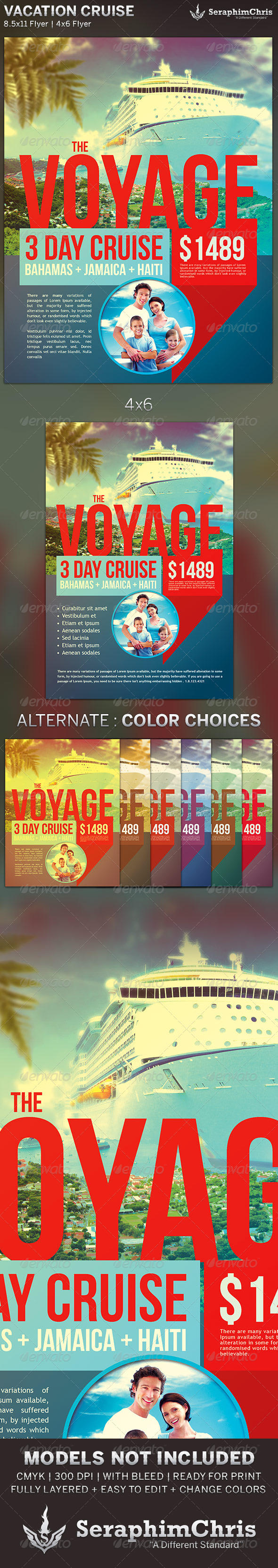 Vacation Cruise: Travel Flyer Template - Corporate Flyers