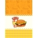 Card with Hamburger and Milk Shake - GraphicRiver Item for Sale