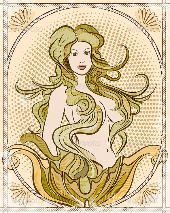 The Mermaid - Characters Vectors