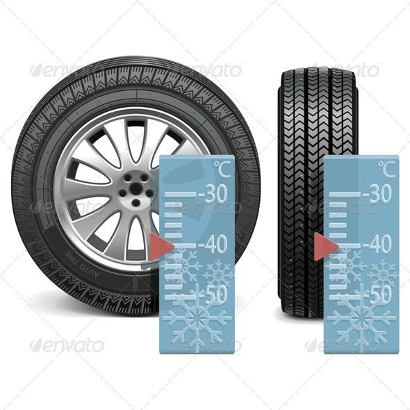 Vector Winter Tire - Commercial / Shopping Conceptual