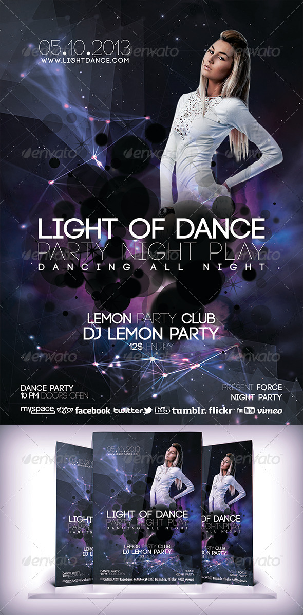 Light Of Dance Flyer - Clubs & Parties Events