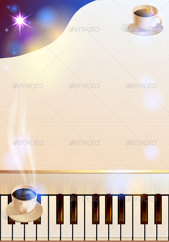 Coffee and Piano - Food Objects