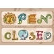 Cartoon Handwritten Store Signs: Open and Closed  - GraphicRiver Item for Sale