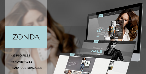 Zonda - Responsive eCommerce PSD Template - Fashion Retail