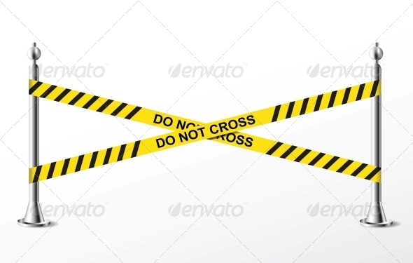 Do Not Cross Yellow Police Tape - Miscellaneous Conceptual