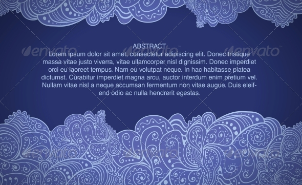 Design Template with Abstract Floral Background - Backgrounds Decorative