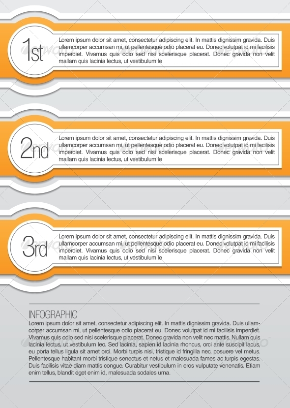 Orange and White Rounded Infographic Lables - Web Technology