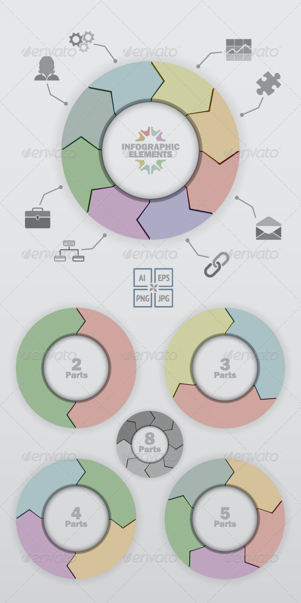 Color Circle Arrows  - Infographics