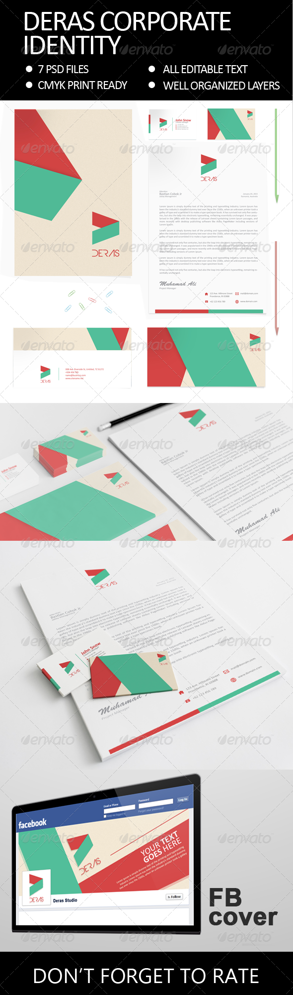 Deras - Corporate Identity - Stationery Print Templates