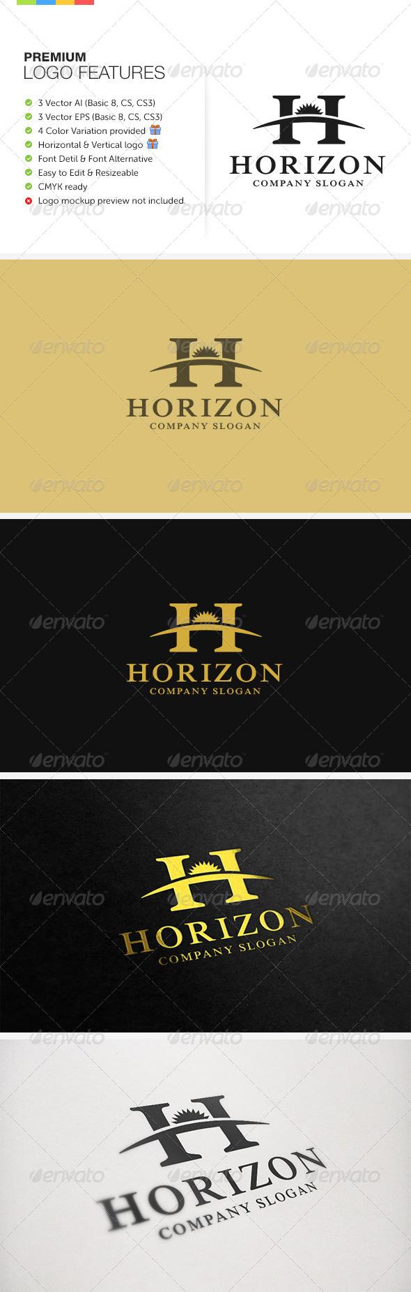 Horizon Logo - Letters Logo Templates