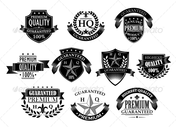 Banners and Badges for Retail Design - Web Elements Vectors