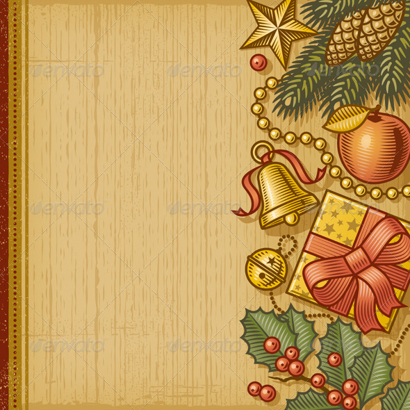 Retro Christmas Background by iatsun | GraphicRiver