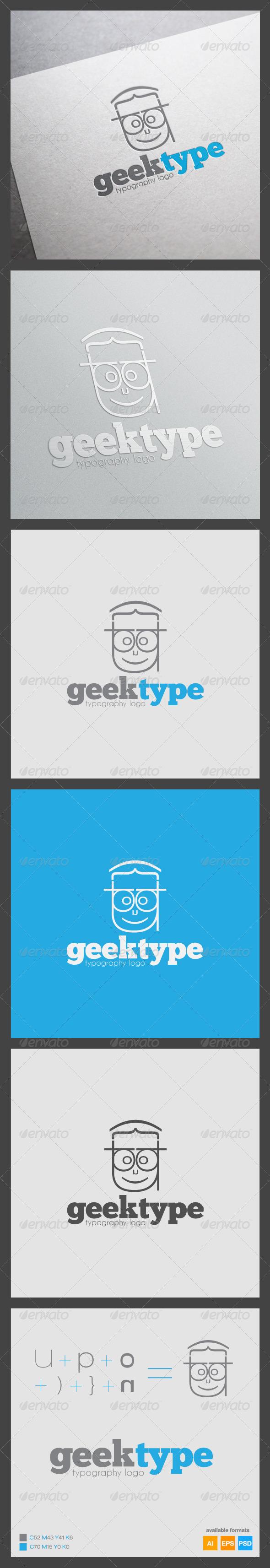 Geek Type Logo Template - Humans Logo Templates