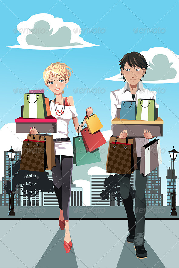 Shopping Couple - Commercial / Shopping Conceptual