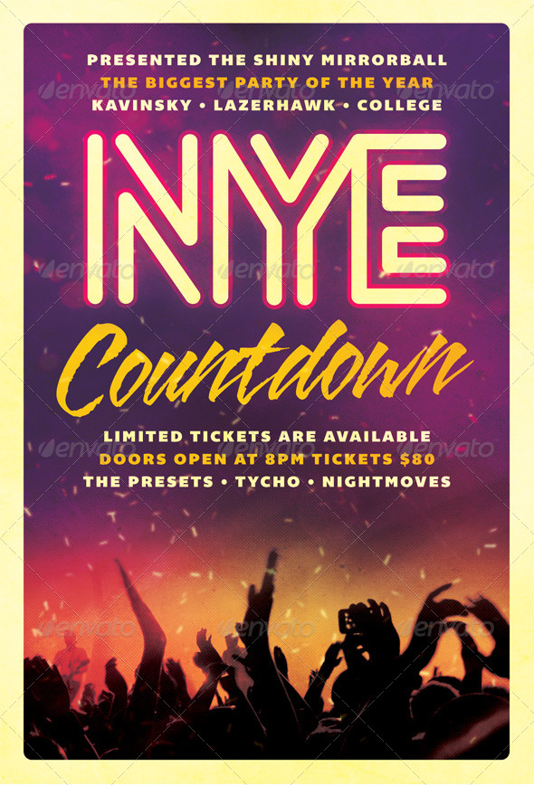 Countdown - New Years Eve Flyer - Clubs & Parties Events