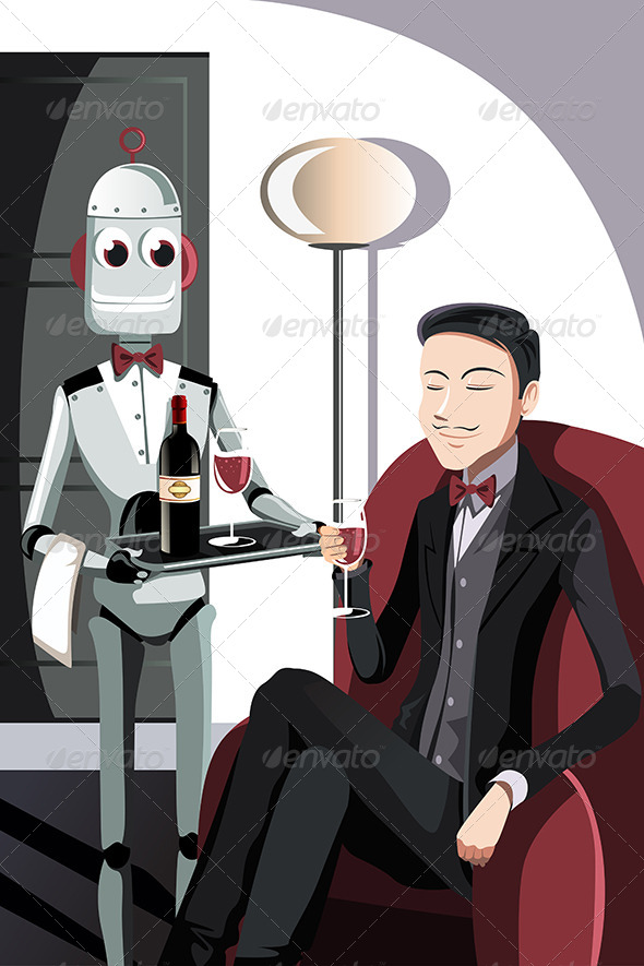 Man and Robot - Technology Conceptual