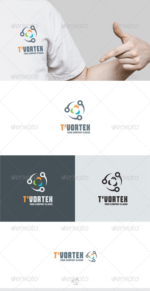 T Vortex Logo - Vector Abstract