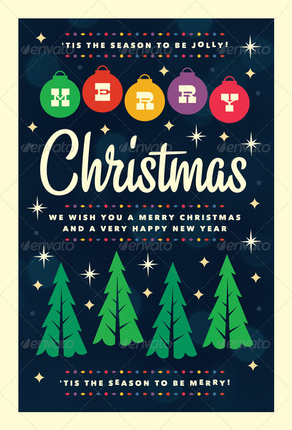 Merry - Christmas Flyer Template by furnace | GraphicRiver
