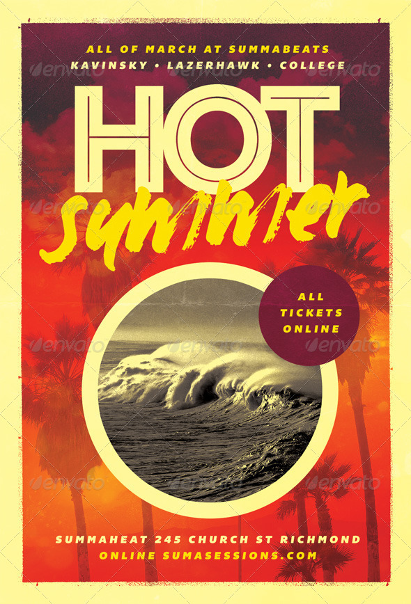 Hot - Summer Flyer Template - Holidays Events