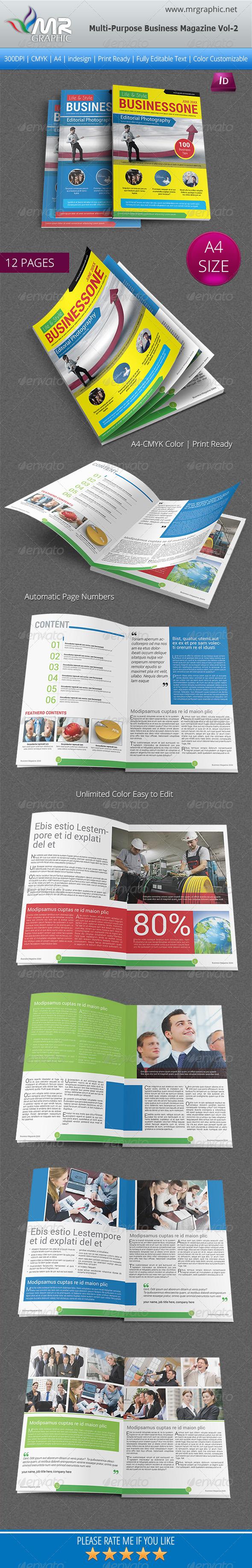 Multipurpose Business Magazine Vol-2 - Magazines Print Templates