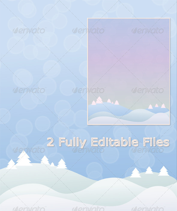 Blue and Purple Winter Background Vector - Nature Backgrounds
