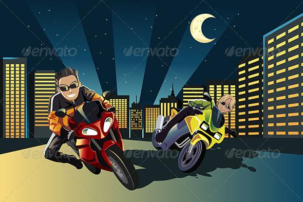 Motorcycle Racers - People Characters