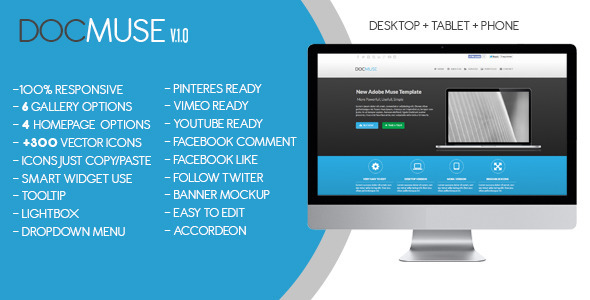 DocMuse | Multipurpose Muse Template - Corporate Muse Templates
