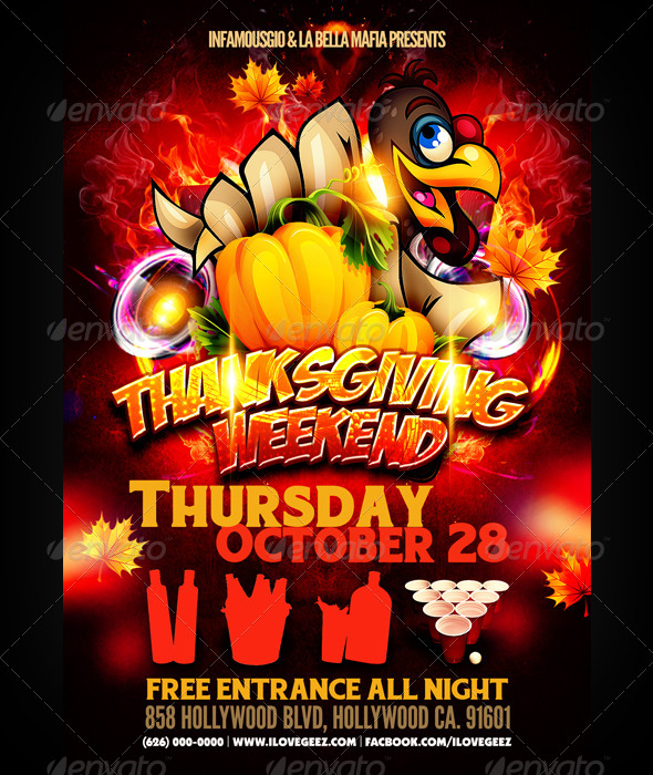 Thanksgiving Weekend - Events Flyers