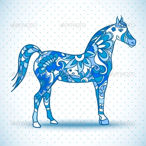 Horse Vector Illustration  - Patterns Decorative