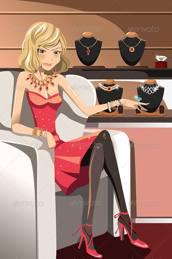 Woman with Jewelry - Commercial / Shopping Conceptual