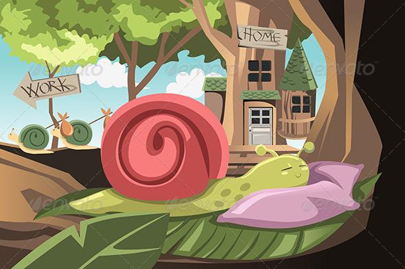 Lazy Snail - Conceptual Vectors