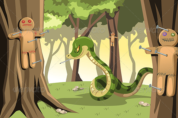 Angry Snake - Conceptual Vectors