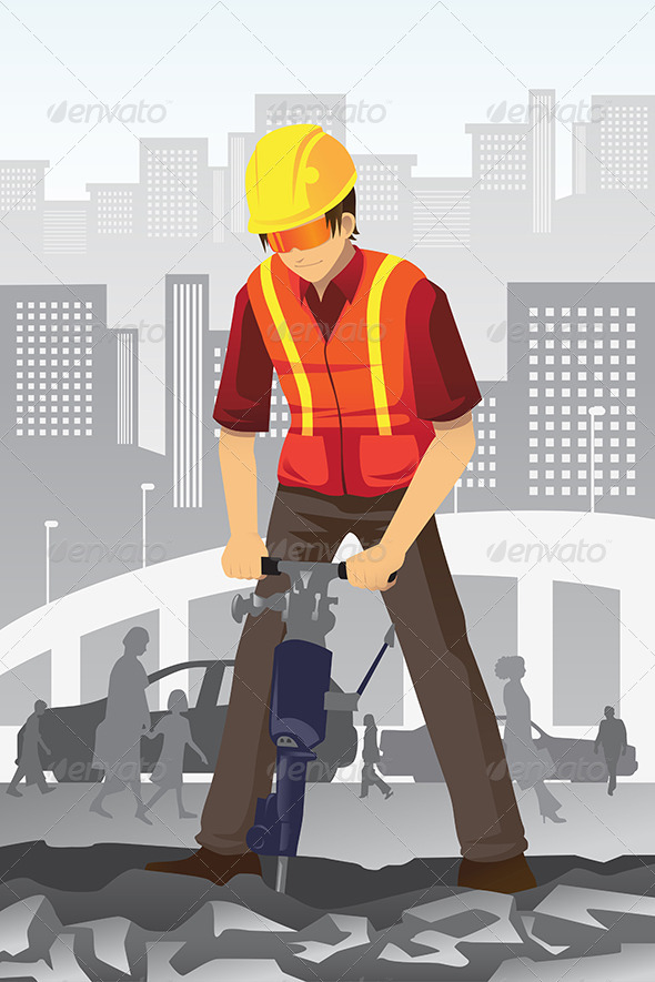 Road Construction Worker - People Characters