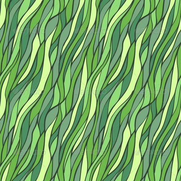 Seamless Hand-Drawn Pattern with Abstract Waves. - Patterns Decorative