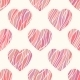 Seamless Pattern with Wavy Hearts. - GraphicRiver Item for Sale