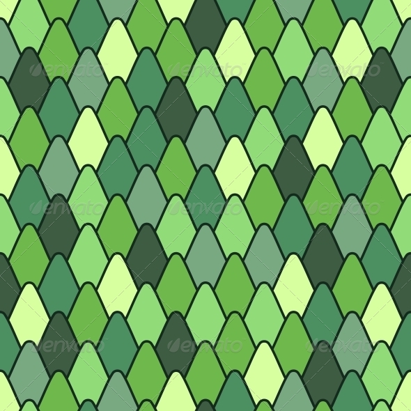 Seamless Pattern with Stylized Scales. - Patterns Decorative