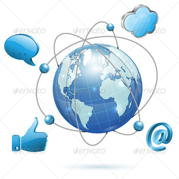 Social Media Concept - Web Technology