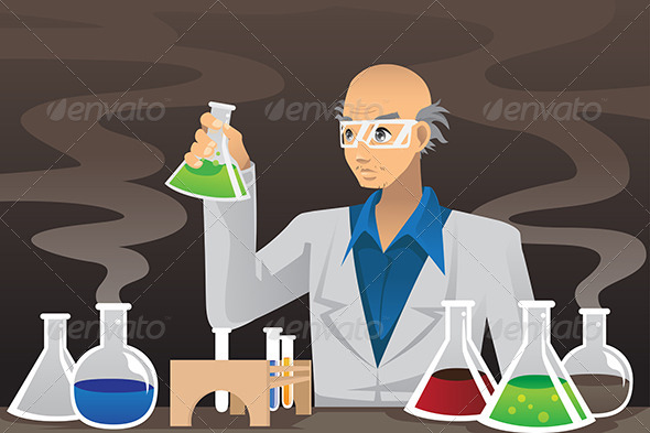 Scientist in Lab - People Characters