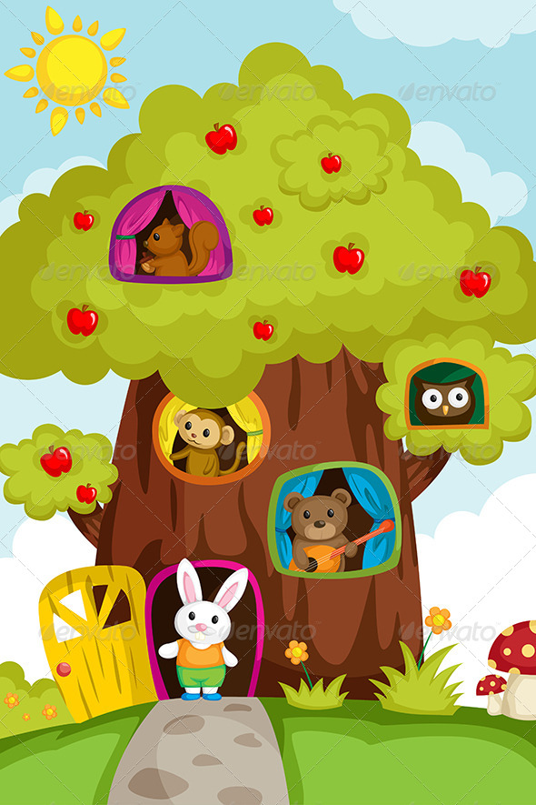 Animals in a Treehouse - Animals Characters