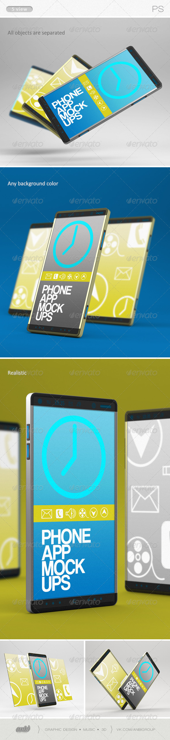 Phone App Mock-Ups - Mobile Displays