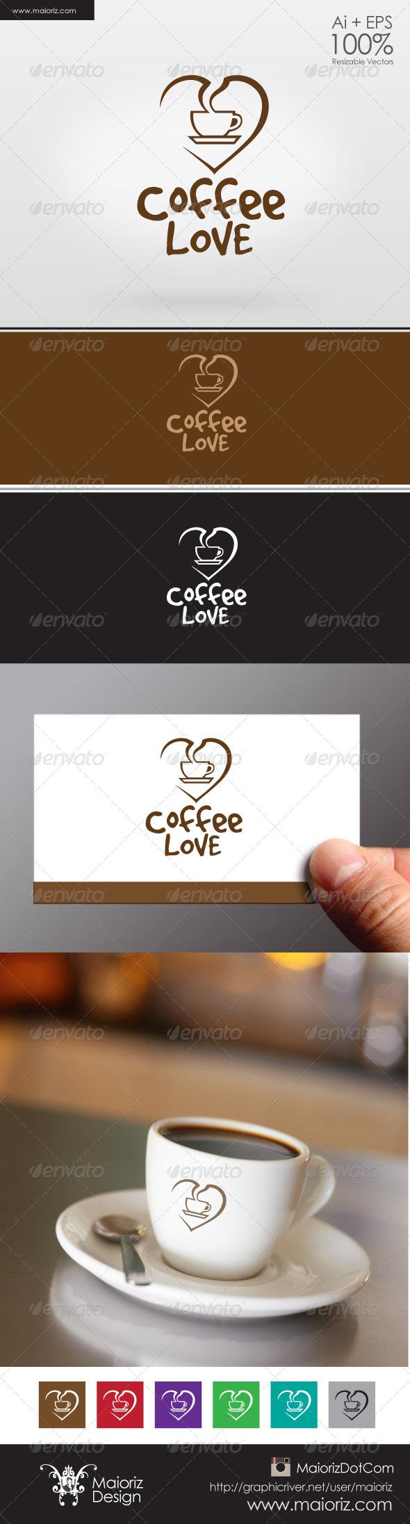 Coffee Lover Logo - Vector Abstract