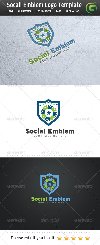 Social Emblem - Crests Logo Templates