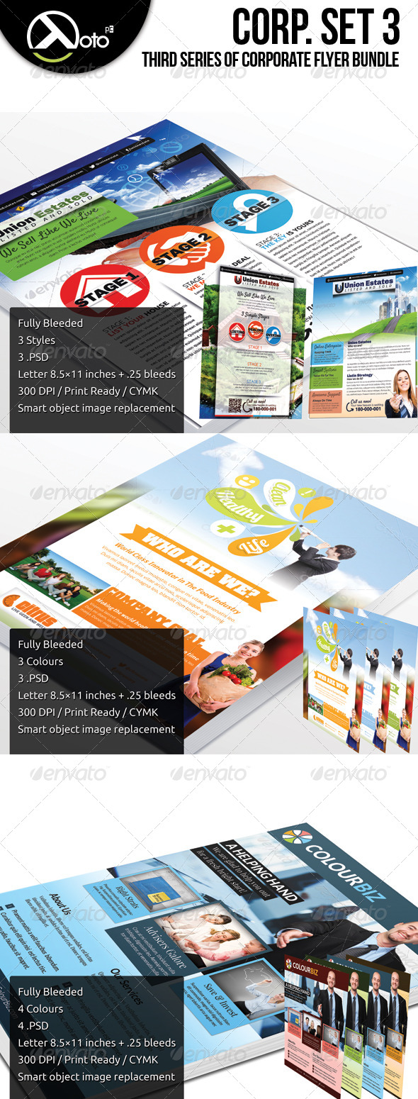 Corporate Flyer Bundle Set 3 - Flyers Print Templates