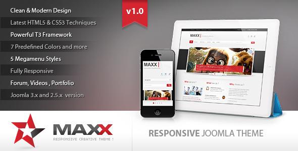 Maxx – Responsive Creative JoomlaTemplate