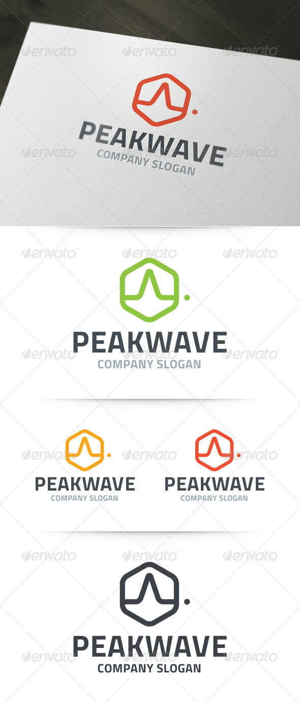 Peak Wave Logo - Abstract Logo Templates